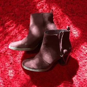 Maroon Heeled Booties